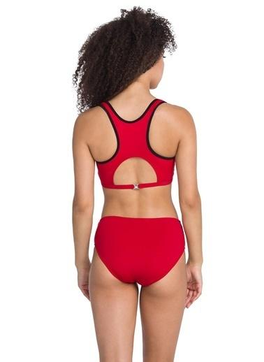 Dagi Fermuarlı Yüzücü Bikini Takım Kırmızı